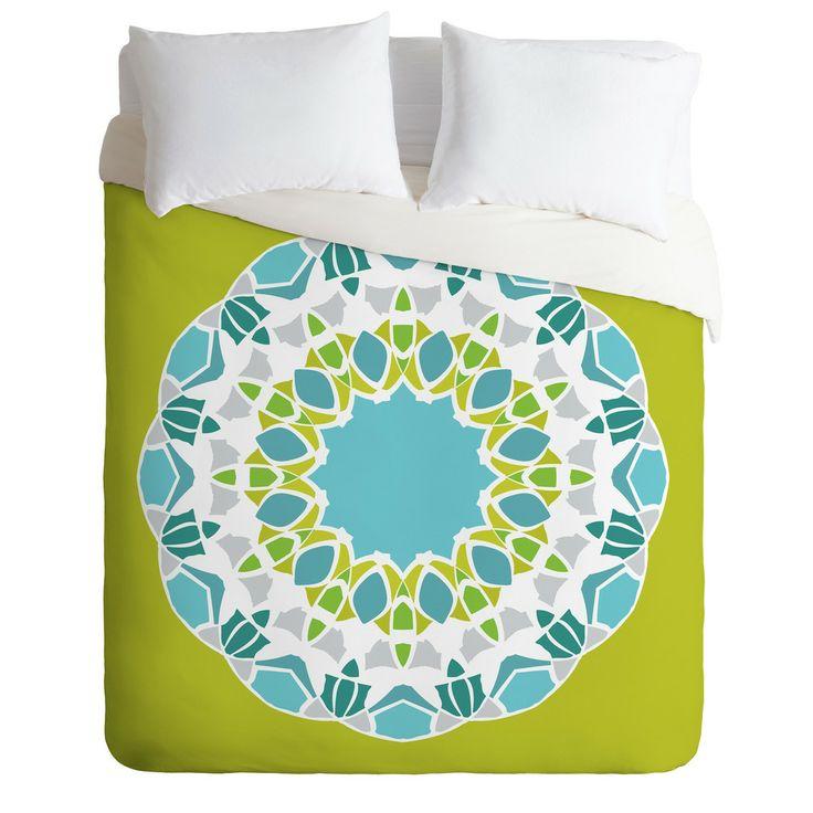 Karen Harris Mod Medallion Green Duvet Cover   DENY Designs Home Accessories