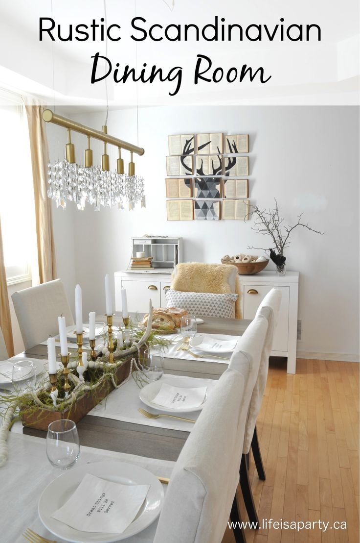 Rustic Scandinavian Dining Room: final reveal of the six week dining room makeover.