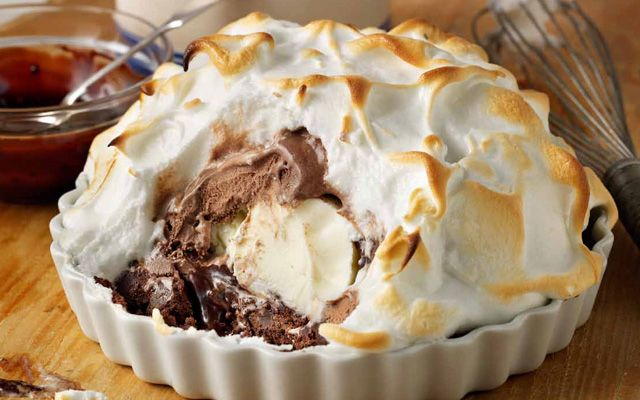 Made famous by a certain meltdown on the Great British Bake Off, baked Alaska is a very naughty dessert - but oh, so delicious! Try our recipe this weekend using higher welfare Freedom Food eggs: http://www.freedomfood.co.uk/recipe/very-naughty-baked-alaska