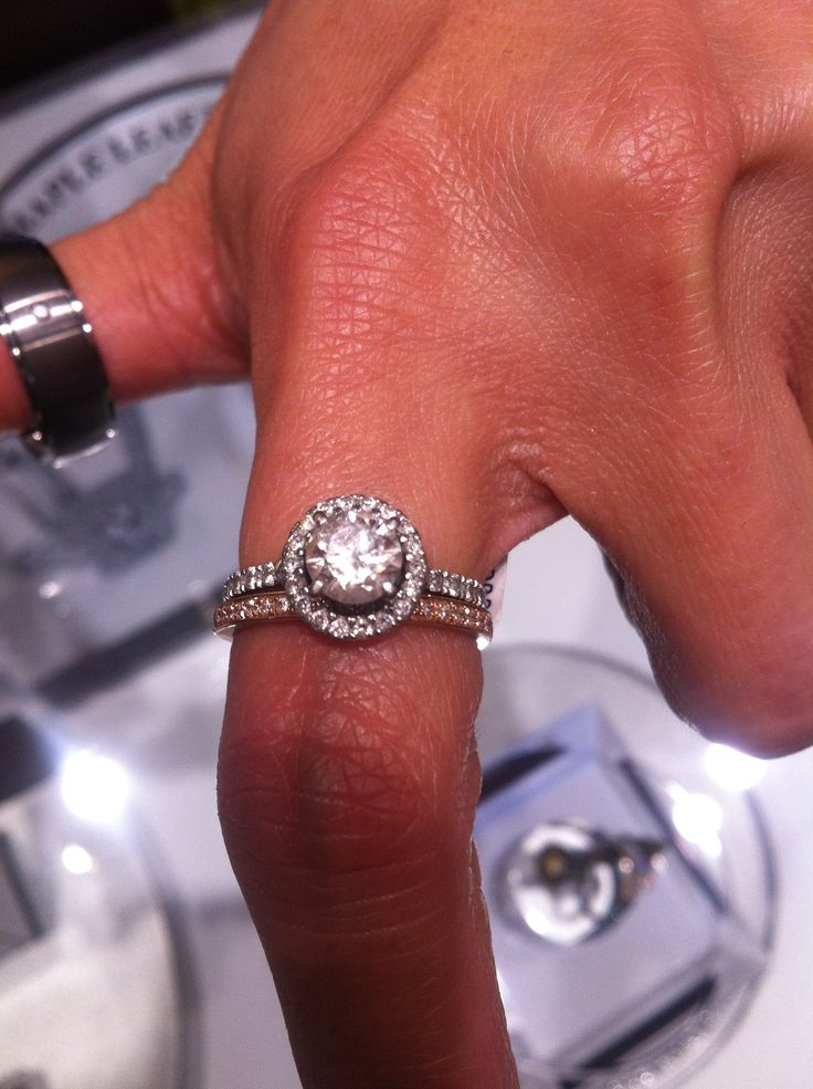 Beautiful Rose Gold Wedding Band With White Gold Engagement Ring From Maggies In Chinook Mall