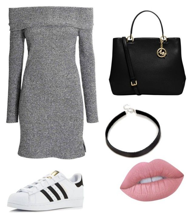 """Casual"" by maffaldacunha on Polyvore featuring adidas, MICHAEL Michael Kors and Lime Crime"