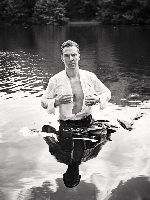 See Benedict Cumberbatch's Sexy Wet 'n' Wild Photo Shoot to Benefit Cancer Research!  #BenedictCumberbatch