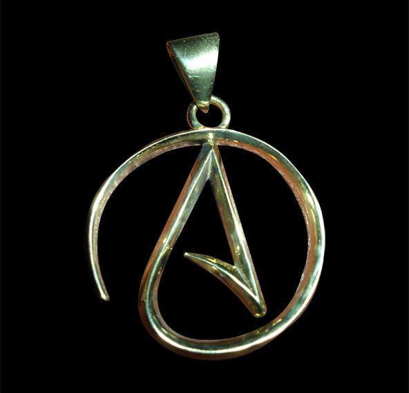 37 best atheist jewelry that i like images on pinterest atheist bronze mens atheist logo pendant wchain free shippingin stock handmade aloadofball Choice Image