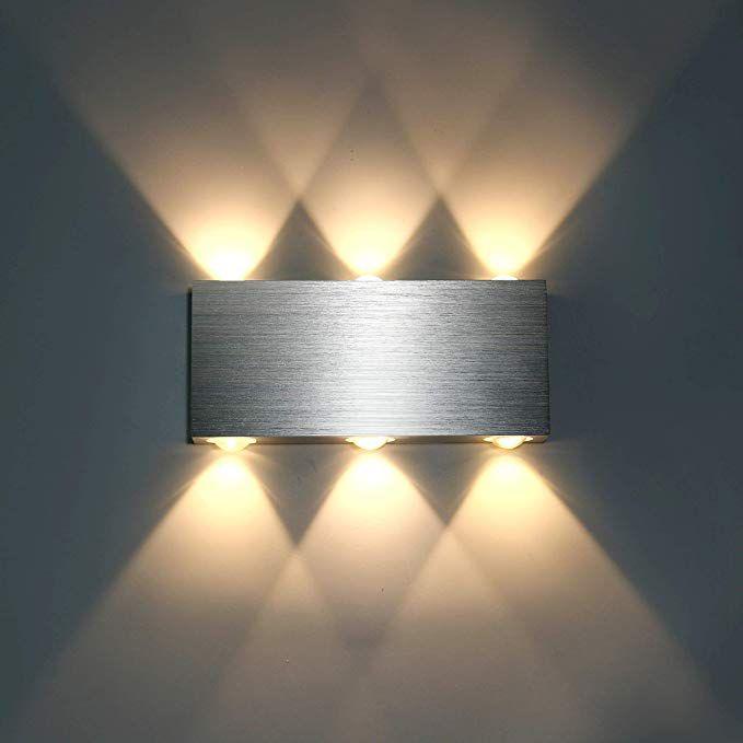 Lightess 6W Wandlampe LED Wandleuchte Innen Modern Up Down