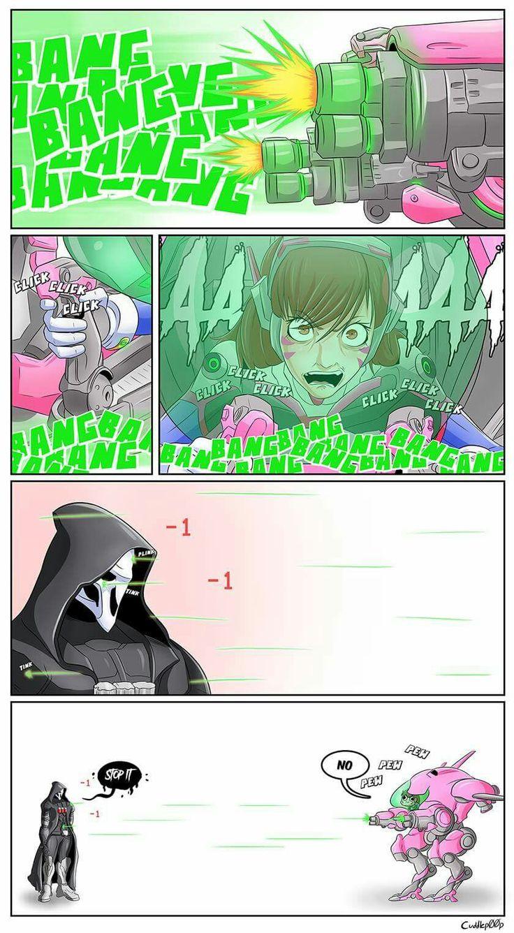 Overwatch funny reaper d.va