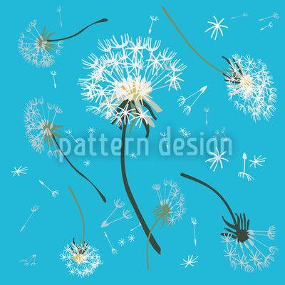 Dandelions Blue by Birgit Schlegel available for download on patterndesigns.com
