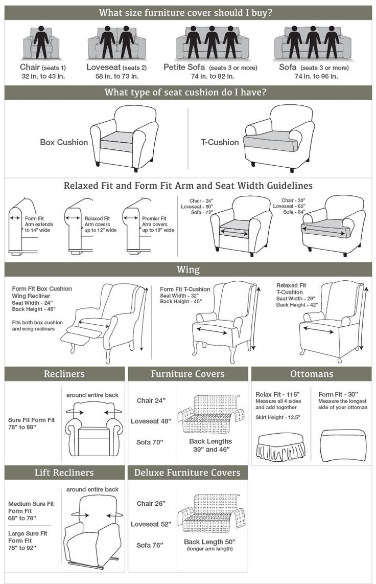 measuring guide to help you choose the right size futon sofa bed couch Gray Futon Couch