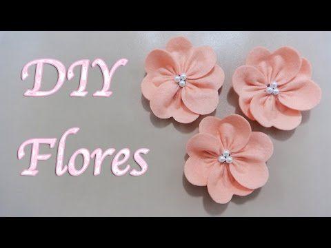 FLORES   COMO HACER FLORES DE TELA FÁCIL   FLOR ELEGANTE   FLOWERS   DIY - YuureYCrafts - YouTube