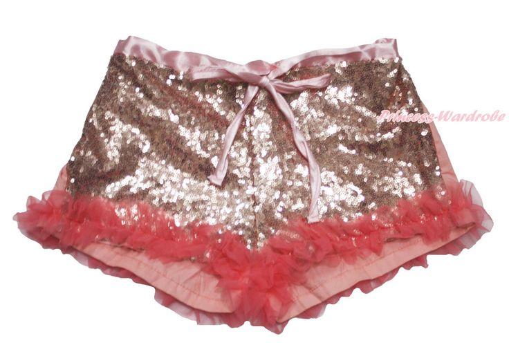 Светло-розовый шику блестки лето девочка дети дети ну вечеринку танцевальные брюки шорты 2-8Y MAAPB0019