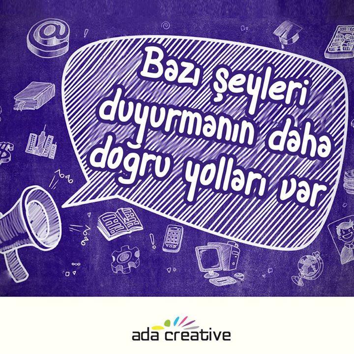 Biz söylemiş olalım da! #adacreative #adaajans #adareklamevi #reklamederiz #reklamajansi #buyukreklamajansi #reklamciddibiristir #reklamciyizbiz #reklamaadasalyaklasim #eglencelireklamajansi #bizitakipedin