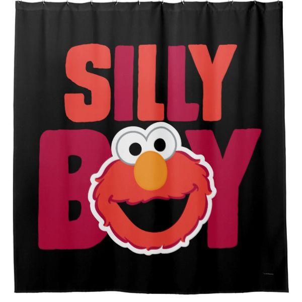 Elmo Silly Shower Curtain Zazzle Com Elmo Custom Shower