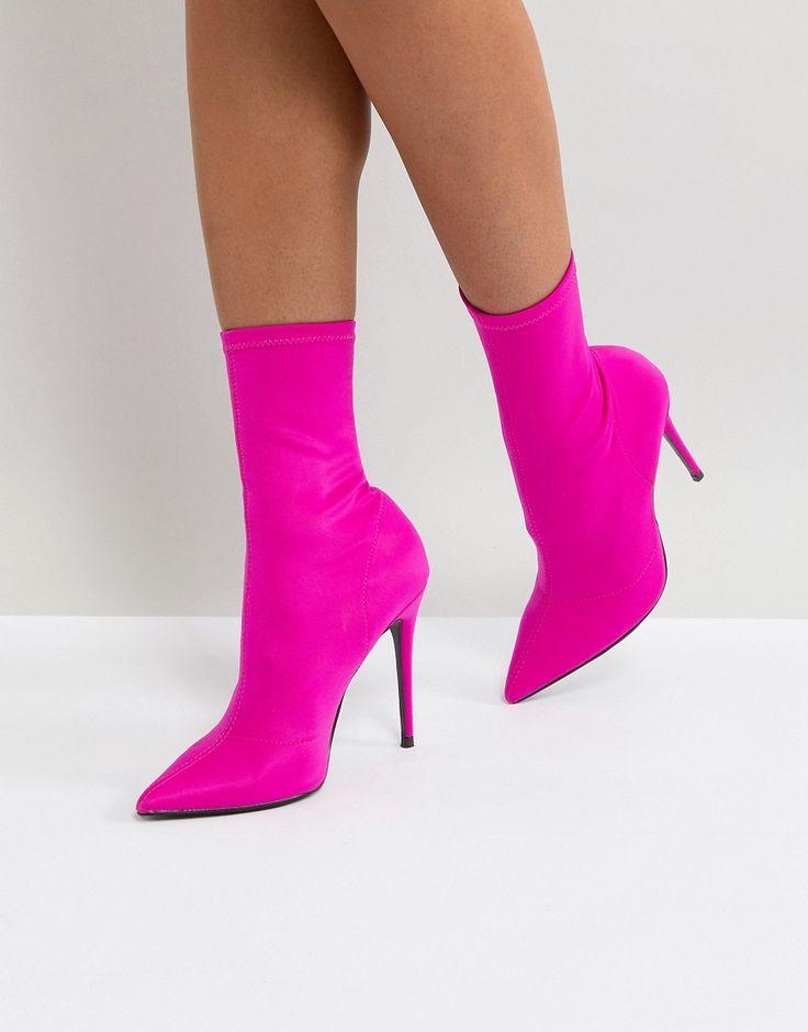 River Island - Stretch-Ankle-Boot aus Neopren mit Absatz - Rosa Jetzt bestellen unter: https://mode.ladendirekt.de/damen/schuhe/stiefel/sonstige-stiefel/?uid=861b9c02-f26d-5e3e-b447-d08854c17640&utm_source=pinterest&utm_medium=pin&utm_campaign=boards #stiefel #sonstigestiefel #schuhe #female