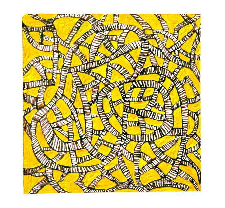 Tinta, acrílico sobre papel 2003. Daniel Herce