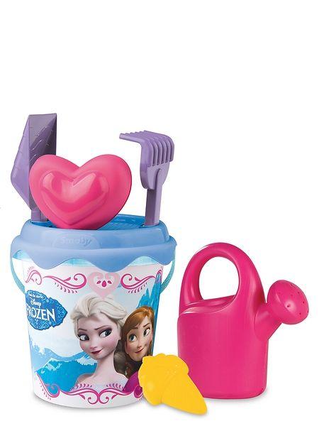 Annan ja Elsan seurassa voit rakentaa hiekasta vaikka upean linnan! Frozen-hiekkalelusettiin kuuluu ämpäri, kastelukannu, lapio, harava, siivilä ja hiekkamuotti.