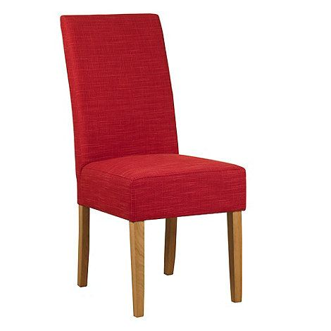 debenhams pair of red 39 parsons 39 dining chairs with light. Black Bedroom Furniture Sets. Home Design Ideas