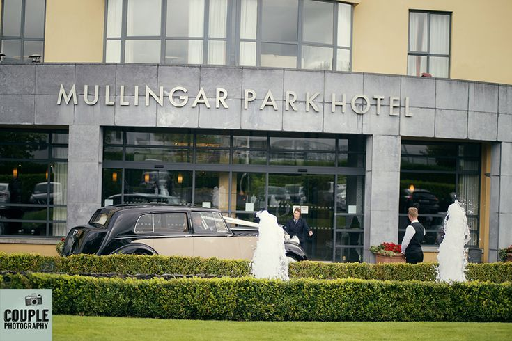 The newlyweds arrive at The Mullingar park Hotel Weddings at Mullingar Park Hotel by Couple Photography.