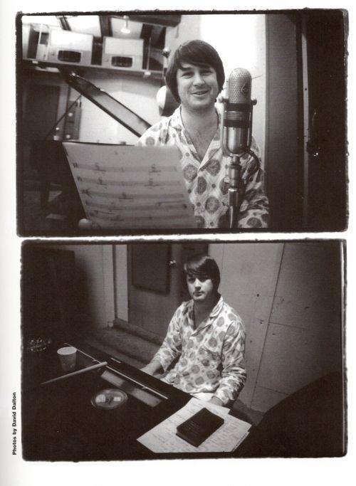 Brian Wilson in the studio.
