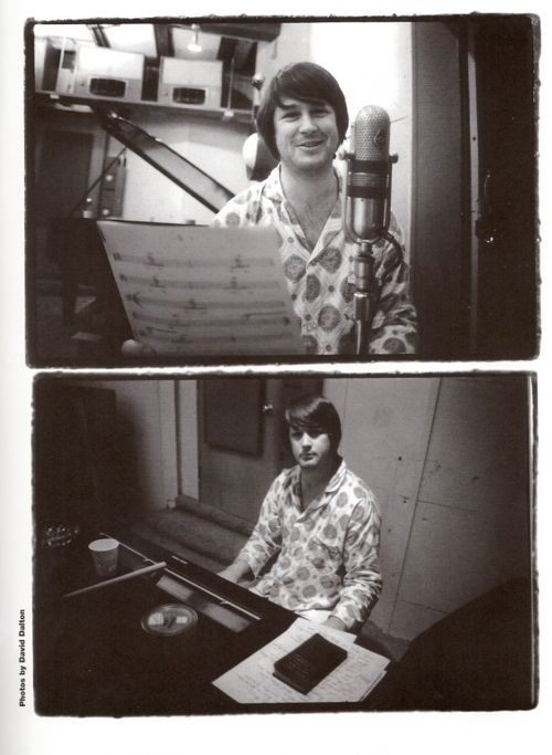 Brian Wilson in the studio.