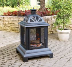 Steel Outdoor Fireplace from Walmart Canada $98.00 (38% Off) -