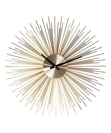 Control Brand Gold Sunburst Clock | zulily
