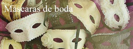 Mascaras venecianas para tu boda diseñadas especialmente para ti.