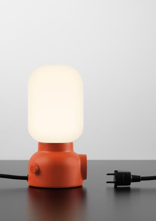 Plug Lamp was designed by Form Us With Love for ateljé Lyktan to solve a simple problem: we're always looking for more plugs to use! For our smartphones, computers and tablets we always need a charge, so the Plug Lamp is here to help make it easier to fin a nearby electrical socket.