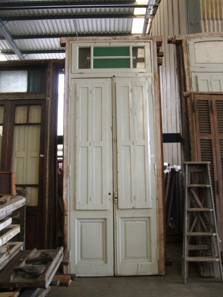 Antique argentinian french doors ebay architectural for Old wood doors salvaged