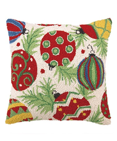 Take a look at this Peking Handicraft Ornament & Pine Hooked Pillow by Home for the Holidays: Décor on #zulily today!