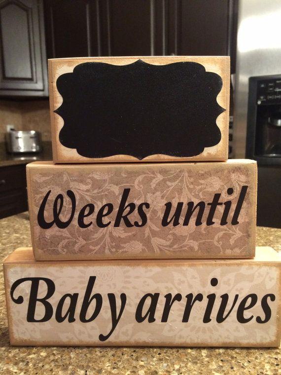 Custom Baby Countdown Wood Blocks  Baby by CaitandCadensCastle