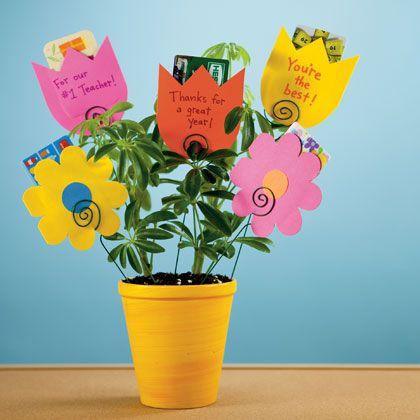 Teacher appreciation gift!Teacher Gifts, Teacher Appreciation, Teachers Gift, Teachers Appreciation Gift, Gift Cards Holders, Gift Ideas, Appreciation Gifts, Flower Pots, Handmade Gift