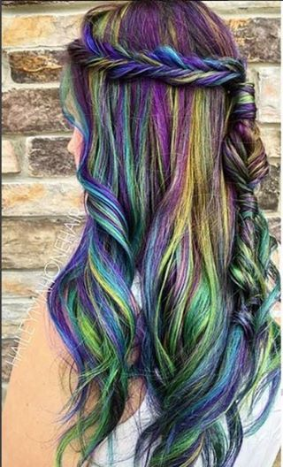 crazy colour hair styles pin by terra stewart on hair styles in 2019 hair hair 5837 | a77cb3bcff47fa4ff3afae69dd91b4d4 mermaid hair colors crazy colorful hair