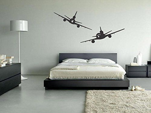 Amazon.com - Wall Decal Vinyl Sticker Decals Art Decor Design Two Plane Airplane…
