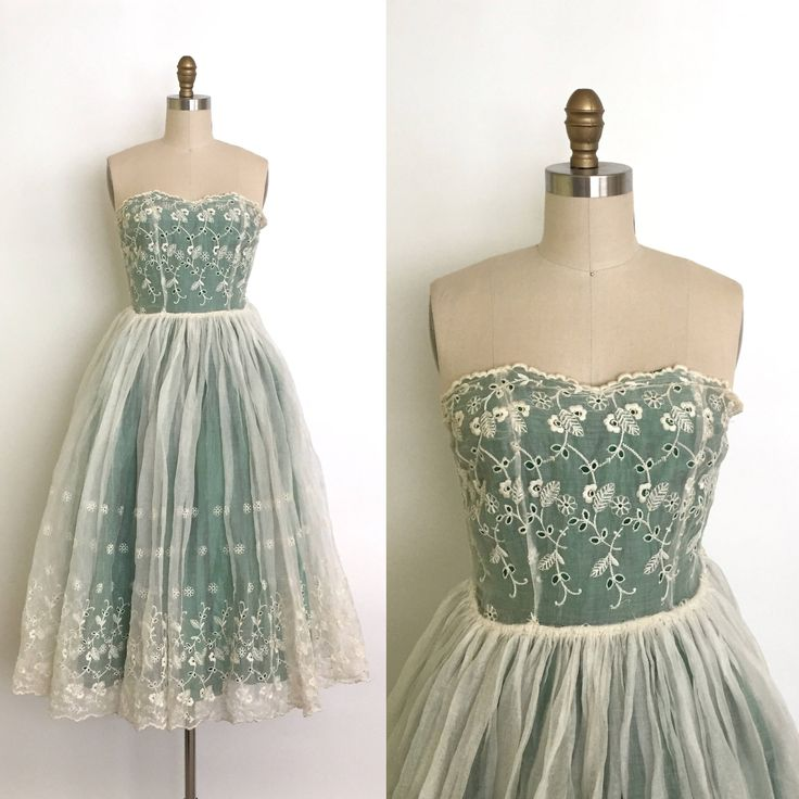 Vintage 1950s Gown // 50s Organza and Lace Party Dress // Vintage Wedding or Prom // Rockabilly Bride // Something Blue and White by DuchesseVintage on Etsy https://www.etsy.com/ca/listing/525209757/vintage-1950s-gown-50s-organza-and-lace