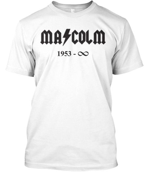 "MALCOLM YOUNG of ACDC ETERNAL HARD ROCK KING T-SHIRT - Mens - Heavy Metal T-Shirts - White  ""The World's No:1 Online Heavy Metal T-Shirt Store"". Check it out our Metalhead Clothing and Apparel Store, Satanic Fashion and Black Metal T-Shirt Stores; www.HeavyMetalTshirts.net"
