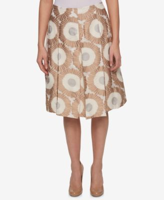 Tommy Hilfiger Printed Pleated Skirt, Only at Macy's
