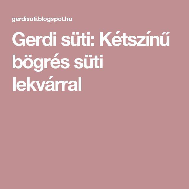 Gerdi süti: Kétszínű bögrés süti lekvárral