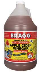 Apple Cider Vinegar for Weight Loss. Add one Tbs. of Bragg Organic Raw Unfiltered ACV to Lg mug of chamomile tea, add cinnamon & raw honey (Tastes like Wassail). Raw ACV contains  calcium, potassium, pectin, malic acid, & acetic acid, which helps regulate blood pressure and reduce bad cholesterol; helps the body resist fungi, bacteria, and viral infections;slows down the digestion of starch and can help lower glucose. It has also been linked to reduced liver lipids and lower fat buildup.