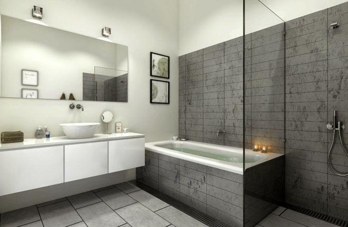 Salle De Bains Baignoire Douche A L Italienne Luxury Shower Enclosures Small Bathroom Vanities Small Bathroom Colors