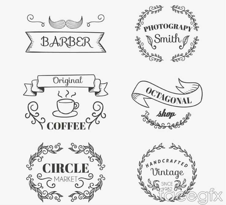 Free download 6 business tag vector . Free vector includes coffee, Photography Studio, ribbons, beer, hand-made, supermarkets, labeling, beard, classic and prac
