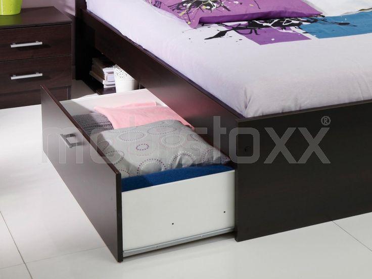 Bed INFINITY 90x190 cm wengue met lade