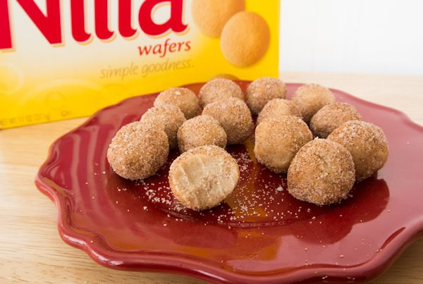 These nilla wafer truffles taste like snicker doodles mixed with chocolate truffles.
