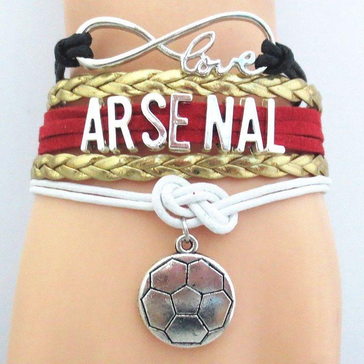 Infinity Love Arsenal FC Bracelet - Arsenal Football Club