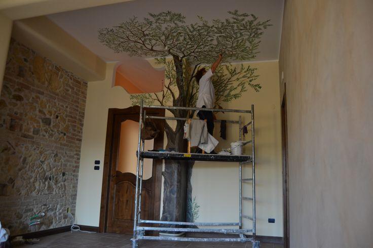 dipinti su parete, opera in fase di elaborazione 2015 autore Natalia Albanese