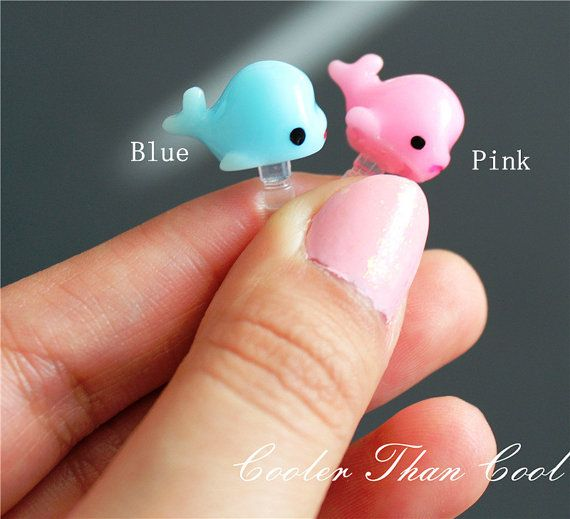 Cute Whale Dust Plug/ Cell Phone Accessory / Whale Dust Plug / Ear Cap / Ear Jack For Any 3.5mm Device iPhone, IPad, iTouch Samsung