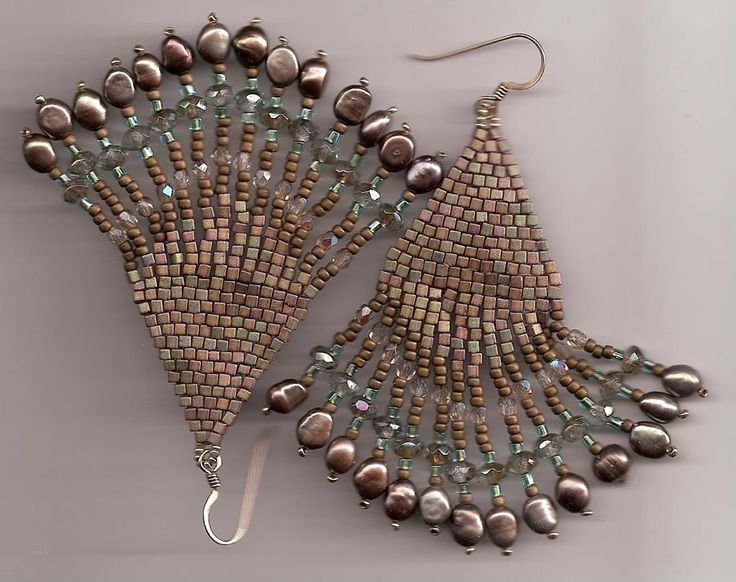brick stitch earrings Image | BEADED EARRINGS | Pinterest ...