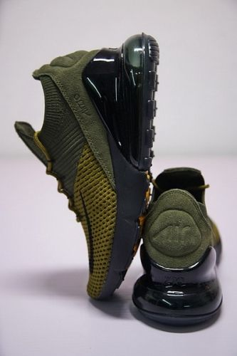 bd8807a0b2 Best Quality Nike Air Max 270 Flyknit AO1023 300 Boys Athletic Shoes Olive  Green Black White