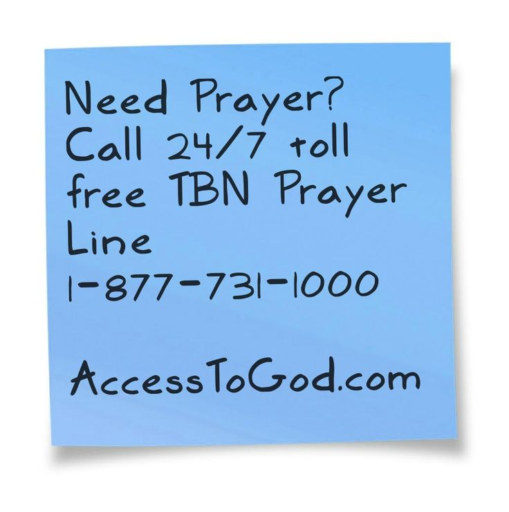 For More 24 hour toll free prayer lines, visit (http://www.accesstogod.com/index.php/24-hour-toll-free-prayer-lines/)