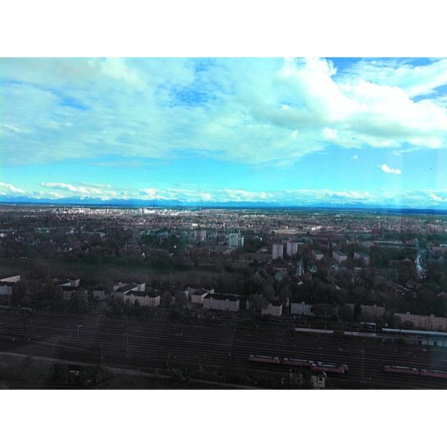 München, Süddeutscher Verlag, 26. Stock - Blick auf die Alpen