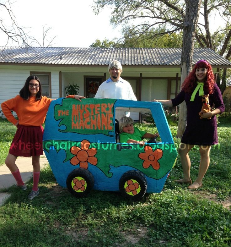 wheelchair costumes the mystery machine from scooby doo - Scooby Doo Halloween Decorations