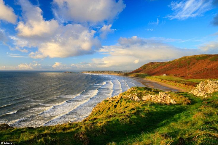 Number one: Rhossili Bay in the Gower, Wales, has been named the best beach in the UK in the TripAdvisor awards